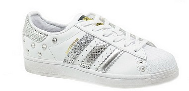 Adidas Customized Superstar Customized white reptile silver