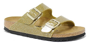 Birkenstock Arizona cosmic sparkle olive tree