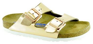 Birkenstock Arizona metallic copper leder