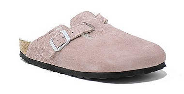 Birkenstock Boston Fur lavender blush