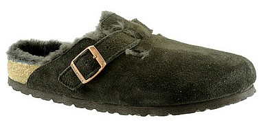 Birkenstock Boston Fur mocca brown
