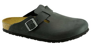 Birkenstock Boston black fat leather