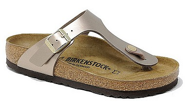 Birkenstock Gizeh electric metallic taupe
