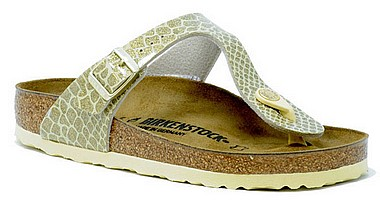 Birkenstock Gizeh magic snake gold