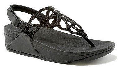 FitFlop™ Bumble Crystal Sandal™ schwarz