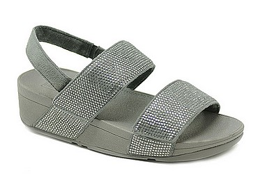 FitFlop™ Mina Crystal Sandals™ pewter black