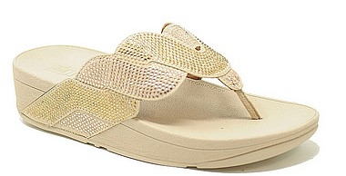 FitFlop™ Paisley Rope Toe Thongs™ platin