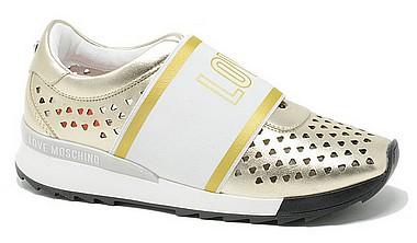 Love Ja15092g17 Platin Moschino Sneaker Elasti XikOuPZ