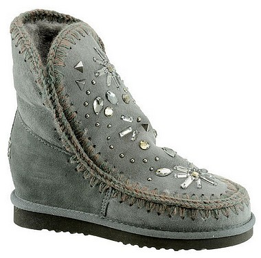 MOU Eskimo Wedge New Stone iron dunkel braun