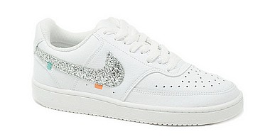 Nike Customized Air Force 1 Customized silver glitter embroideries