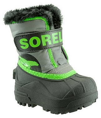 Sorel Toddlers Snow Commander grau cyber grün