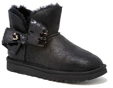 UGG® Classic Mini Sequin Bow nero
